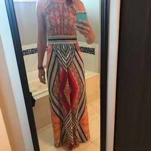 Tribal Maxi Dress size 8